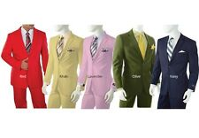 Men's Single Breasted Suit 2 Buttons Classic Fit Many Colors Available A72TE