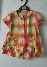 MARKS & SPENCER INDIGO COLLECTION GIRLS TOP AGES 3-4 & 4-5YRS HOLIDAY