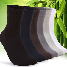 5Pairs Men's Casual Bamboo Soft Fiber Socks Middle Tube Sport Socks