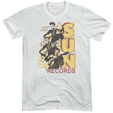 Sun Records Tri Elvis Mens Tri-Blend Short Sleeve Shirt WHITE