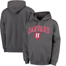 Fanatics Branded Harvard Crimson Campus Pullover Hoodie - Charcoal - NCAA