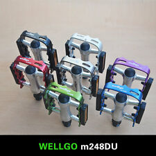 "WELLGO M248DU 9/16"" Alloy Metal Mountain Bike Bicycle MTB BMX Flat Pedals"