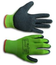 240 Pairs LATEX COATED RUBBER GRIP WORK GLOVES BUILDER SAFE GREEN GARDENING