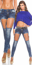 Ladies Skinny Jeans Women's Low Sexy New 12 14 10 Waisted Denim Stretchy Ripped