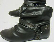 Spot On Ladies Black Trim Ankle Boot F4358 UK Sizes 3x8 (R33A)
