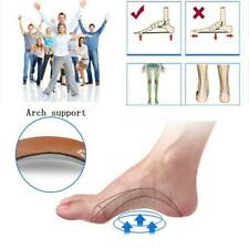 Leather Orthotic Insoles High Arch Support Foot Pads Pain Relief Shoe Inserts