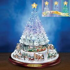 THOMAS KINKADE REFLECTIONS OF CHRISTMAS ILLUMINATED CRYSTAL TREE