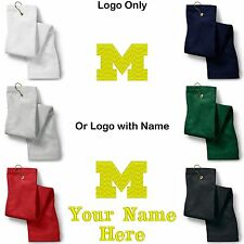 University of Michigan Embroidered Golf Sport Towel Reg. or Custom/Personalized
