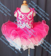 INFANT/TODDLER/BABY/CHILDREN/KIDS CRYSTAL BEADED PAGEANT PARTY DRESS G070