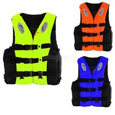 Adult Safety Life Jacket Swimming Float Vest Adjustable Buoyancy Aid w/ Whistle