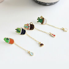 Simple Colorful New Cute Sweet Green Cactus Brooch Kids Girls Gift Fashion Pin