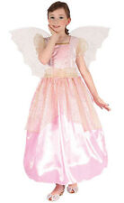 New Girls Pink Fairy Costume with Wings Angel Girls Fancy Dress Outfit