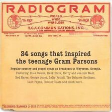 V/A, RADIOGRAM - 24 SONGS THAT INSPIRED THE TEENAGE GRAM PARSONS, 24 T CD (2010)