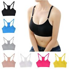 Sports Yoga Running Bra Seamless Stretch Bra Gym Padded Crop Top Vest Shapewear