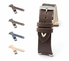 """BOB Vintage Calf Watch Band, Model """"Suede"""", 18-22 mm, 4 colors, new!"""