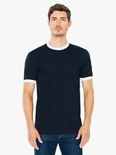 American Apparel Fine Jersey Short Sleeve Ringer T-Shirt Authentic - 59.38% Off!