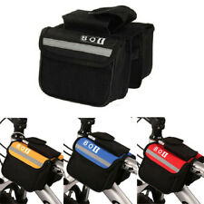Bicycle Cycling Frame Front Tube Bar Double Pouch Phone Holder Bike Saddle Bag