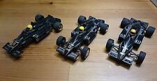 3 x LOTUS RENAULT F1 SCALEXTRIC CARS C373 - USED - IDEAL FOR SPARES/REPAIRS