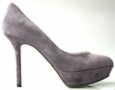 new $695 SERGIO ROSSI grey suede stiletto pumps shoes - CLASSIC