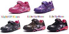 """New Baby Toddler Girls """"Light Up"""" LED Shoes Casual Walking Slip On Sneakers"""