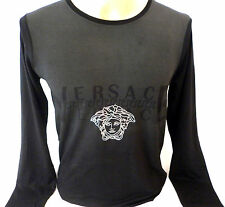 LAST MINUTES SALE NWT Mens Silver Medusa Long Sleeve T-Shirt-ALL SIZES