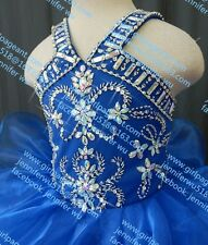 INFANT/TODDLER/BABY/CHILDREN/KIDS RUFFLES BEADED PAGEANT PARTY DRESS G061-3