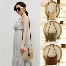 Womens Straw Woven Medium Crossbody Tote Ladies Hobo Weave Shouder Bag Messenger