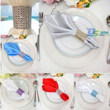 Colorful Rhinestone 8 Row Wedding Mesh Bling Napkin Ring Party Sash Holder Decor