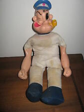 VINTAGE PLASTIC & CLOTH POPEYE SAILOR DOLL KING FEATURES PIPE HAT TATOO