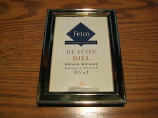 """Beacon Hill Solid Brass Picture Frame, Holds a.3 1/2""""x 5"""" Picture, Free Standing"""