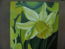 Original oil painting of a Daffodil.