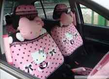 10 PCs Hello Kitty UNIVERSAL Car Seat Covers Front Rear Cover Accessory Set