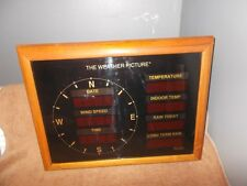 """VINTAGE PEET BROS. """"THE WEATHER PICTURE"""" WEATHER STATION"""