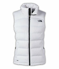 Women's North Face White Nuptse 2 700 Down Vest Jacket New $149