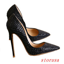 Women 12cm Lady High Heels OL Pointy Toe Stiletto Pump Shoes Party Dress Work