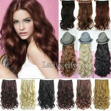Hair Extensions 100% Natural Clip In Hair Extensions Long Wavy Cury As Human Fl2