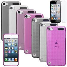 7 Color Pink Purple Candy Skin Case For ipod touch 5 6 5th Gen+Anti-Glare Film