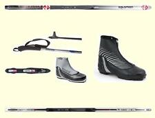 TOP QUALITY SALOMON  X-COUNTRY SKIS PKG  (Skis,Upgrade Boots, Bindings,Poles)