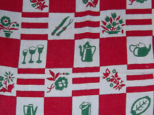 VINTAGE RETRO HAND or DISH LINEN KITCHEN TOWEL
