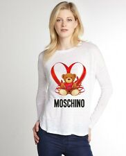 White Sexy Women T-Shirt Top Tee Blouse Moschino I Love You