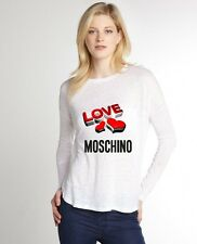 White Sexy Women T-Shirt Top Tee Blouse Moschino Love