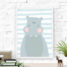 Dilemma Posters Cute Hippo Paper Print