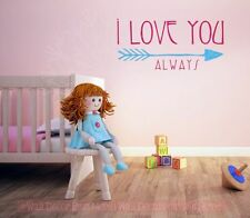 Love You Always Wall Decals Love Quotes Lettering Vinyl Stickers Bedroom Nursery