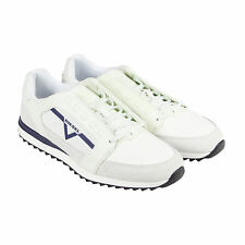 Diesel S-Fleett Mens White Leather Lace Up Trainers Shoes