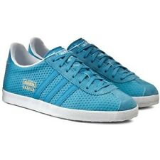 Womens adidas Gazelle OG Originals Leather Classic Shoes Trainers Blanch Sea