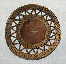 Native American Antique Basket Authentic 1901 Ojibwa Basket Tray, FREE SHIPPING