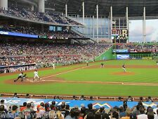 Marlins vs Cincinnati Reds 7/29/17 (Miami) Row 1 - Behind Reds Dugout
