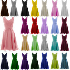 New Short Chiffon Prom Bridesmaid Party Evening Dress Ball Gowns Stock Size 6-18
