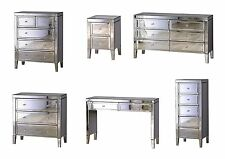 Birlea Valencia Mirrored Bedroom Furniture - Chests Bedsides Dressing Table