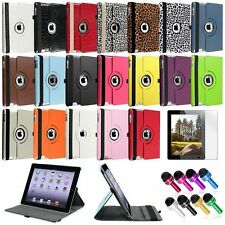 For Apple New iPad 4 4th 4G Gen 3 3rd 2 360 Rotating PU Leather Case Cover Stand